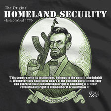 THE ORIGINAL HOMELAND SECURITY ABE LINCOLN