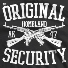THE ORIGINAL HOMELAND SECURITY CROSSED AK-47