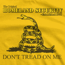 THE ORIGINAL HOMELAND SECURITY DON'T TREAD ON ME